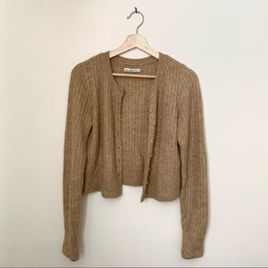 Abercrombie and Fitch Brown Knit Cardigan